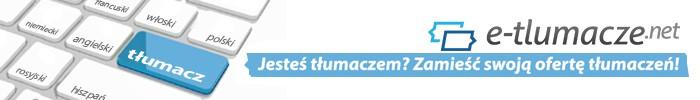 Reklama e-tlumacze.net - dla tłumaczy