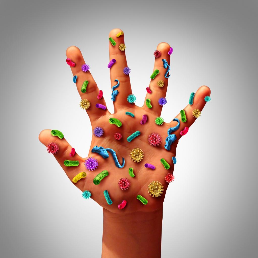 mikroorganizmy na ciele człowieka
