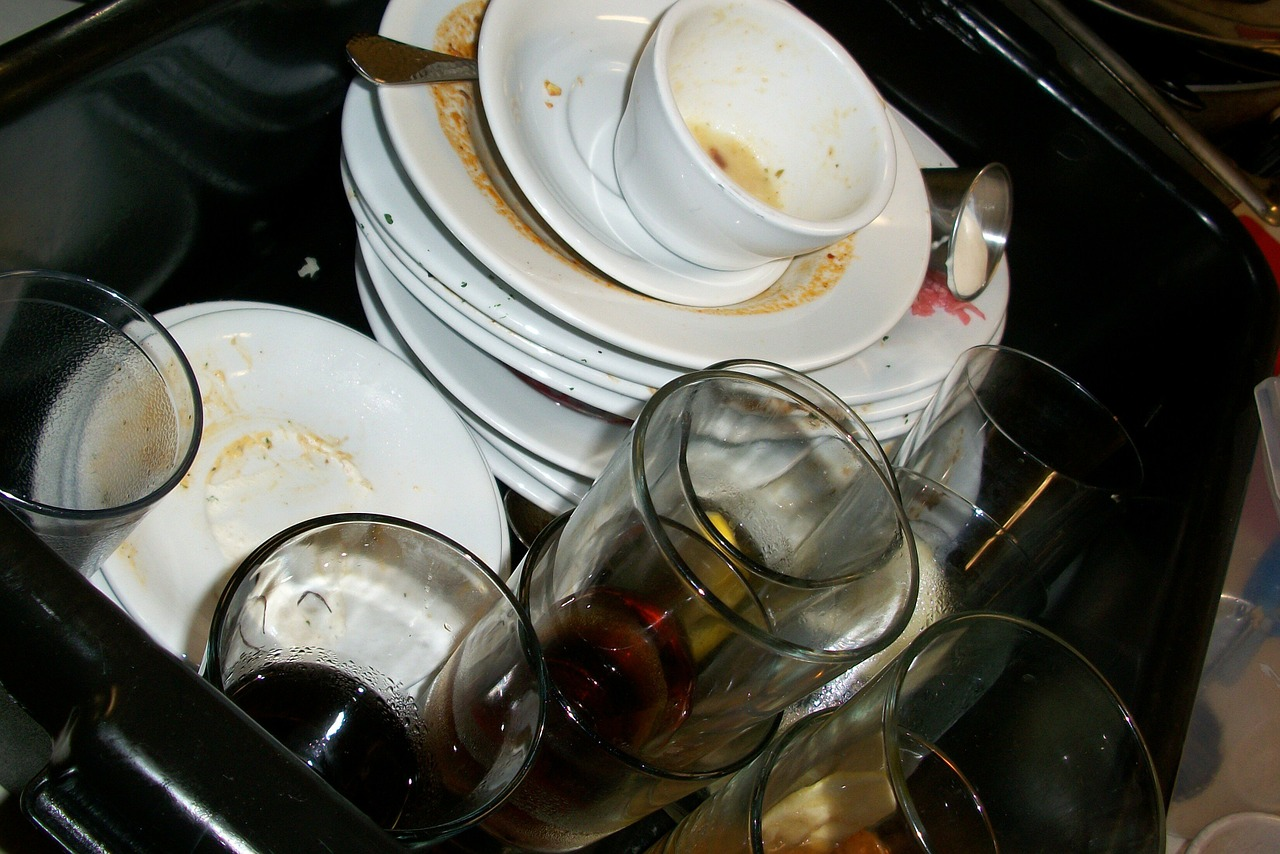 brudne naczynia