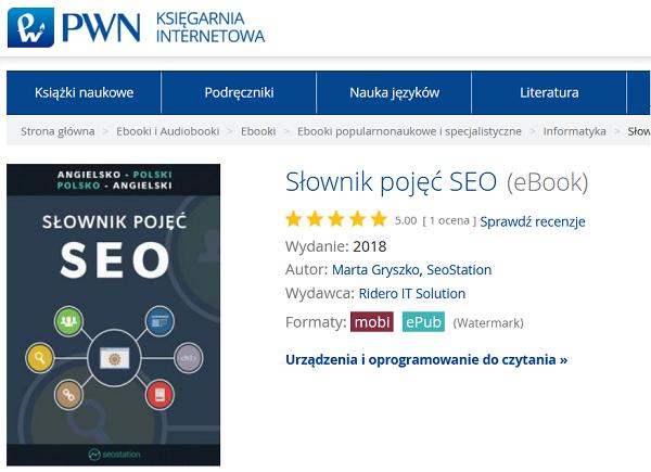 Książka w księgarni internetowej PWN